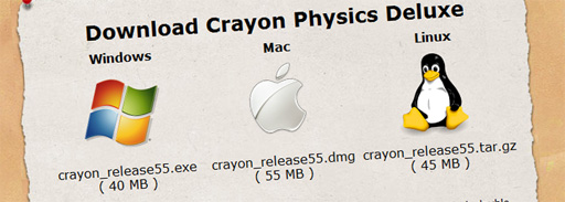 Crayon Physics Deluxe is now available for Mac and Linux \o/