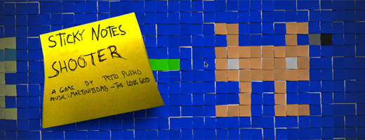 Unexperimental Shooter: Sticky Notes Shooter (not made of post it™ notes)